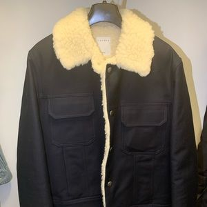 Other - Sandro wool sherpa collar coat